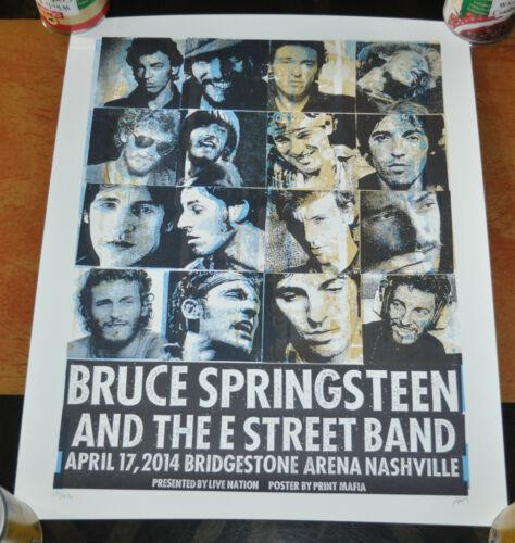 Bruce Springsteen & E Street Band Silkscreen LE Poster Nashville 2014!