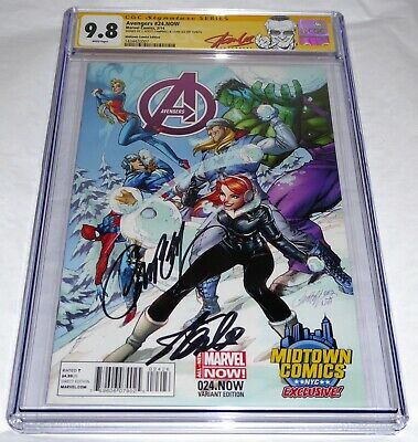 Avengers #24.NOW CGC SS Signature Autograph STAN LEE J. SCOTT CAMPBELL Midtown