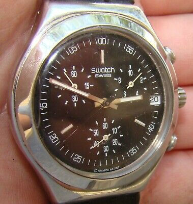 Swiss Made Mens SWATCH IRONY Four (4) Jewels AG 2002 Working