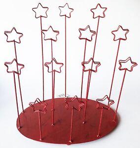 Red Metal Christmas Card Display Stand