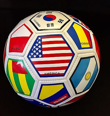 International Country Flags Soccer Ball Fifa World Cup Size 5  - International Soccer Ball