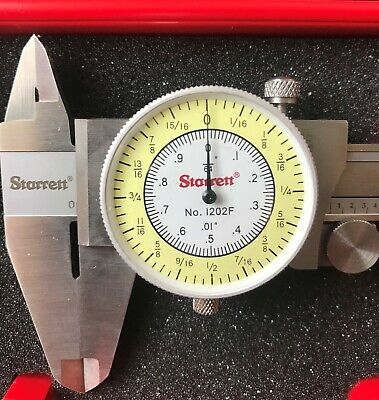 Starrett 1202f-6 Fractional Dial Caliper With Case 0-6 New Never Used Edp68931