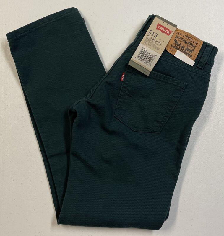 Levis 513 Boys Slim Fit Corduroy Ponderosa Pine Pants Sz 16R (28x28) NWT