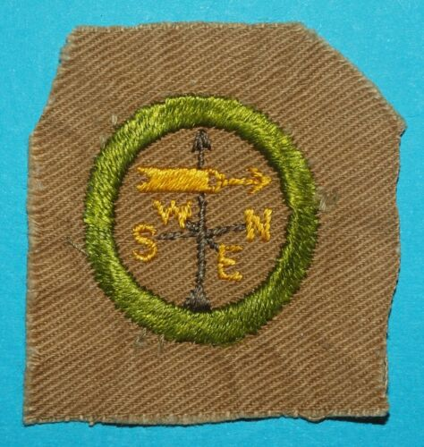 WEATHER TYPE A MERIT BADGE - FULL SQUARE -   BOY SCOUT  9536