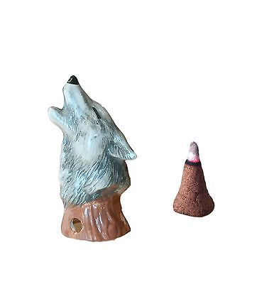 Majestic Wolf Bust Cone Incense Burner Gifts & Decor | Mom's Majestics