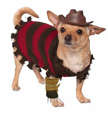 RUBIES NIGHTMARE ON ELM STREET FREDDY KRUEGER DOG HALLOWEEN PET ANIMAL COSTUME - Nightmare On Elm Street Costume