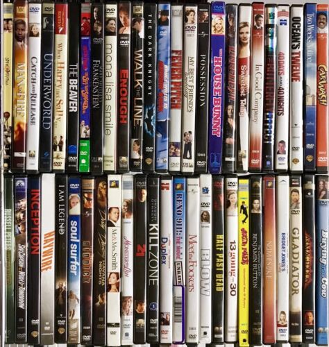 Movies A-LIST TITLES! BULK ASSORTED WHOLESALE PRICE USED DVDS - 100 DVD LOT!