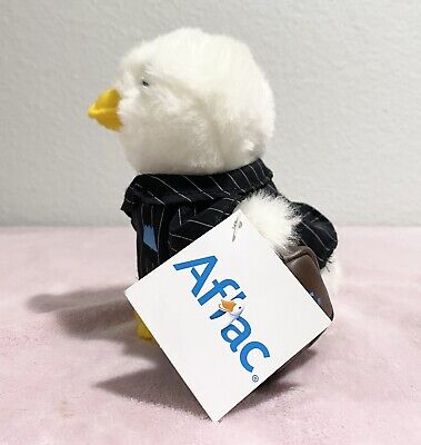 """AFLAC Talking Plush Duck In Business Suit Ducky Tie with Briefcase 5"""""""