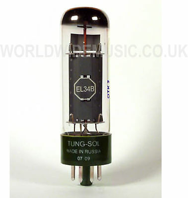 Tung-Sol EL34B Power Vacuum Tube / Valve