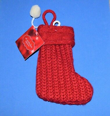 Red And White Christmas Stocking (Mini Knit 7
