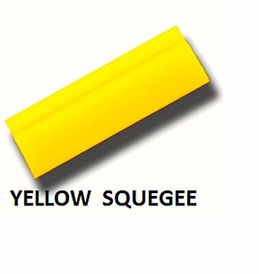 "5"" YELLOW TURBO SQUEEGEE BLADE WINDOW TINT FILM INSTALLATION BEST TOOL"