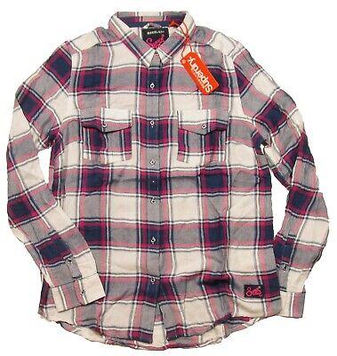 Superdry Women's Pink Multi Gilford Nashville Check Boyfriend Button Front Shirt