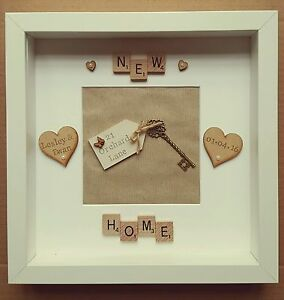 Personalised new home, first house frame - scrabble art, gift, present