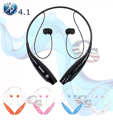 Bluetooth 4.1 Wireless Headset Stereo Headphone Earphone Handfree Universal