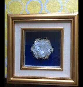 "Hand made silk flower in 8""x8"" frame for only $10"