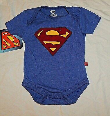 Neu Baby Superman Logo Einteiler Größen 0 durch 6 Monate Kostüm - Superman Neue Kostüm Blau