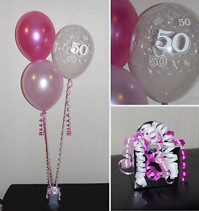 50th Birthday Balloons - DIY Party Decoration Kit Clusters For 5 - 15 ...