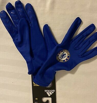 Adidas Chelsea FC Field Player Gloves. Adult Size: Medium. A98665 Adidas Field Players Gloves