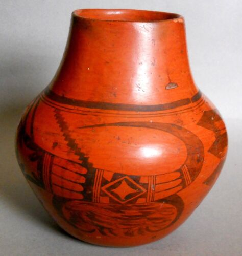 NAMPEYO of Hano ! >>HUGE SALE<< Rare Sikyatki Revival HOPI-TEWA REDWARE Pottery!