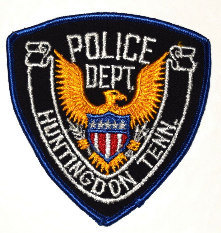 HUNTINGDON TENNESSEE TN Police Sheriff Patch GOLDEN EAGLE VINTAGE OLD MESH ~