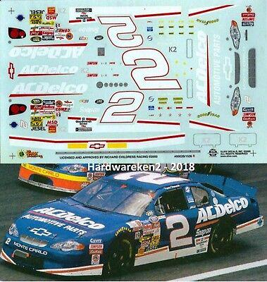 NASCAR DECAL # 2 AC-DELCO KEVIN HARVICK 2000 BGN  ROOKIE SLIXX