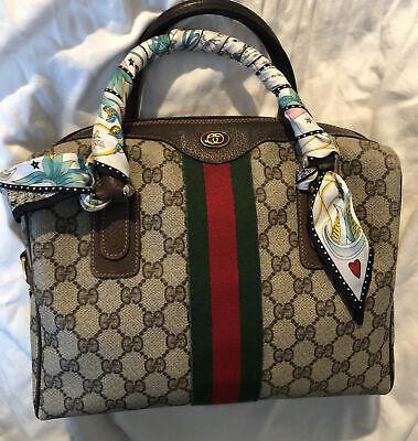 Vintage Gucci Accessory Collection Dr HandBag Purse Brown Monogram Bag Speedy GG