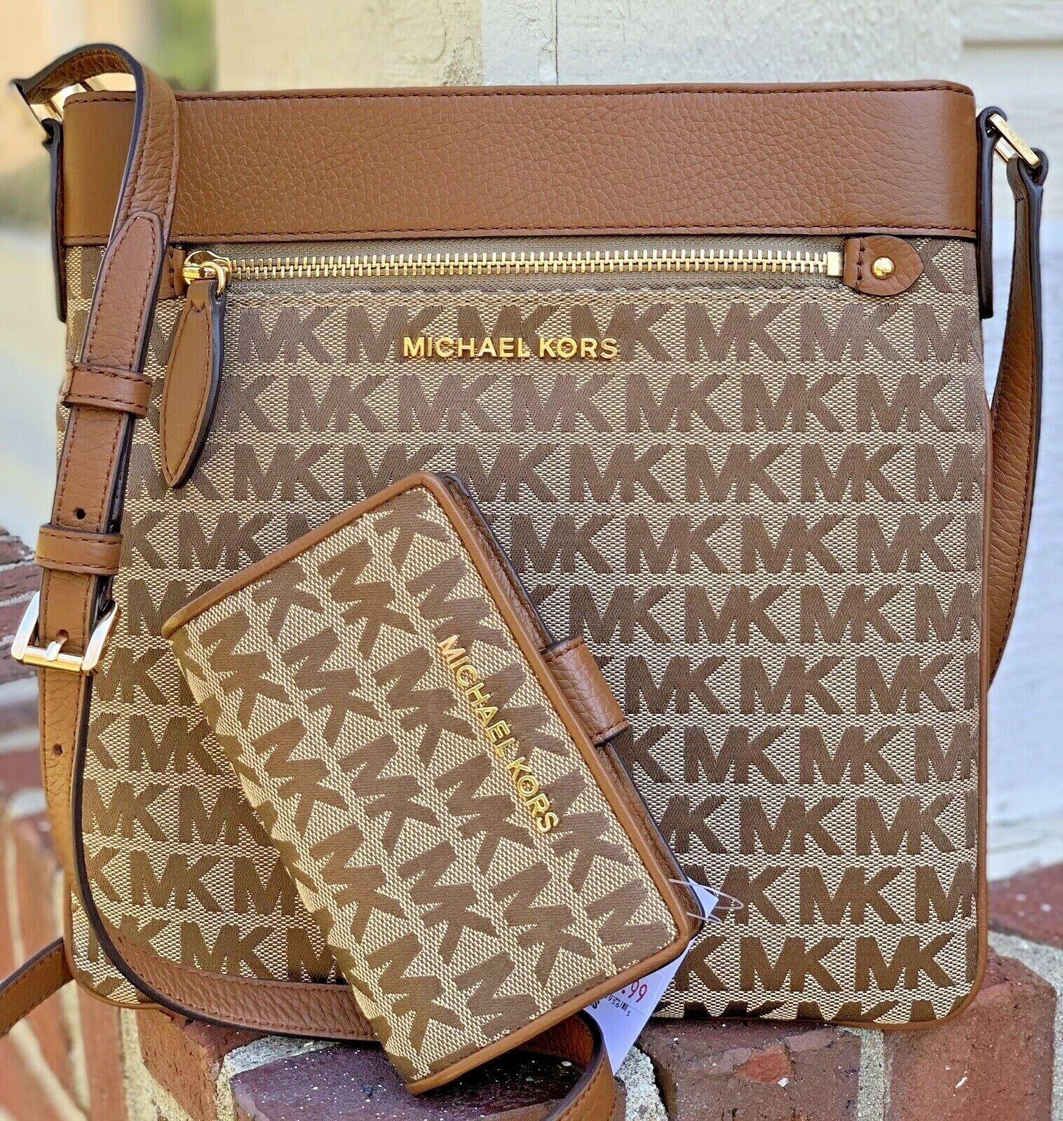 Michael Kors Brown MK Signature Shoulder Bag Crossbody and J