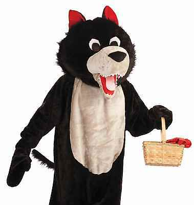 Wolf Costume Adult Plush Furry Deluxe Big Bad Wolf Mascot Cosplay Costume - Fast
