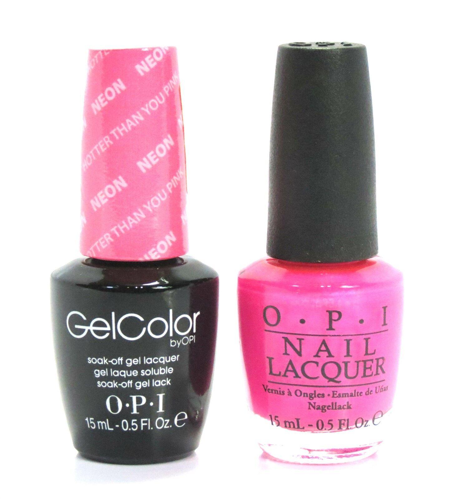 Gel Nail Polish How To: Opi Soak-Off GelColor Gel Polish + Nail Polish Neon Hotter