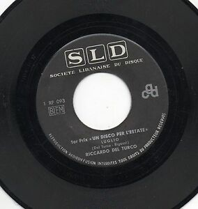 RICCARDO-DEL-TURCO-raro-disco-45-giri-STAMPA-LIBANESE-Luglio-1968