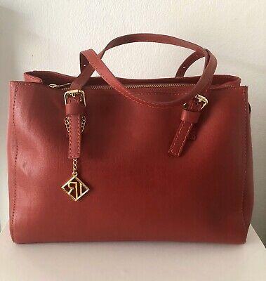 Red leather Isabella Rhea leather handbag