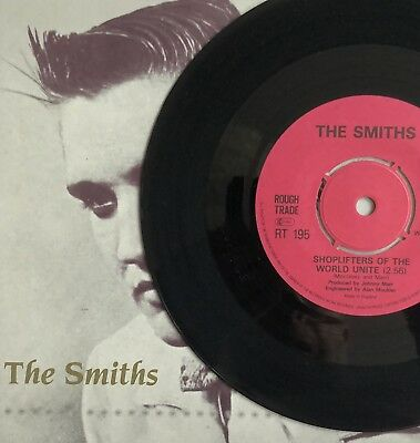 The Smiths  Shoplifters Of The World Unite  Uk 7  Mpo Pressing   Vinyl Record
