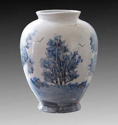 VICTOR MORARU Vase Fine Porcelain Hand Painted Signed 1991