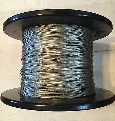 132 1x7 Steel Cable Wire Rope Loose Co 1000 Spool