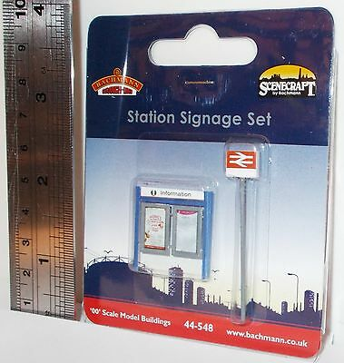 Bachmann 00 Scenecraft 44-548 - Station Signage Set - New (00)