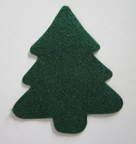 Shimmering Christmas Tree Felt Shape (pack of 4) Made in the USA