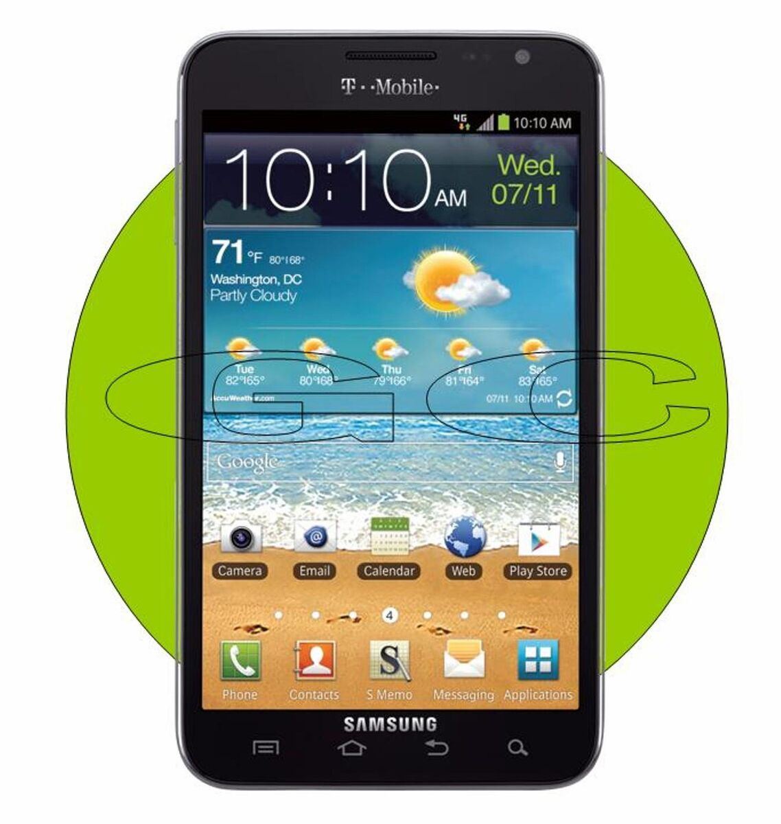 New SEALED in Box Tmobile Samsung Galaxy Note T879 Android Smart Cell