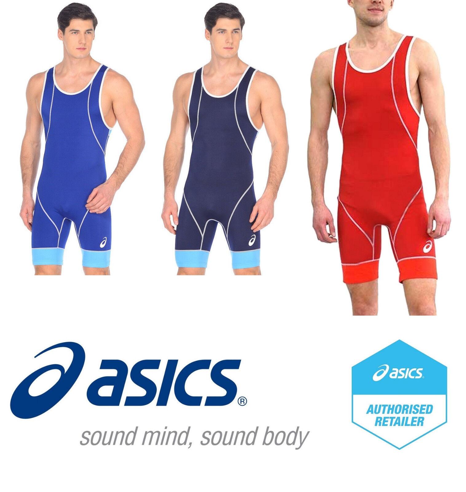 ASICS Men's Wrestling Suit Singlet Ringertrikot Costume Lutt