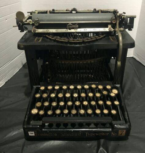 Vintage Black Remington Standard #7 Typewriter