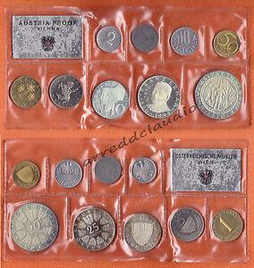 AUSTRIA-OSTERREICH-SERIE-SET-1970-UNIVERSITA-039-INNSBRUCK-9-VAL-PROOF-ARGENTO