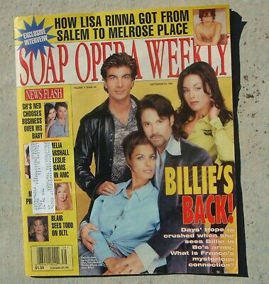 SOAP OPERA WEEKLY~SEPT 24, 1996~DAYS OF OUR LIVES CAST~COMPLETE (Soap Opera Days Of Our Lives Cast)