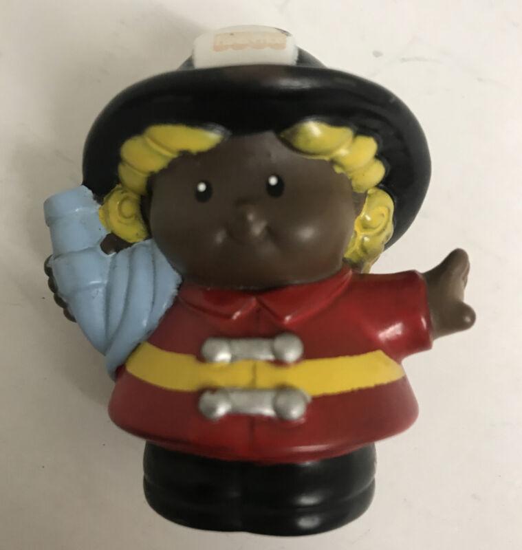 Little People Female Firefighter African American Black Woman
