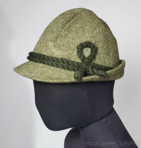 Vintage Tyrol hat German Austrian folk costume lederhosen ethnic style green