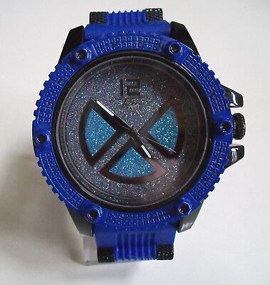 Men's Dressy/Casual  Hip Hop Black/Blue Finish Silicone Band Fashion Watch
