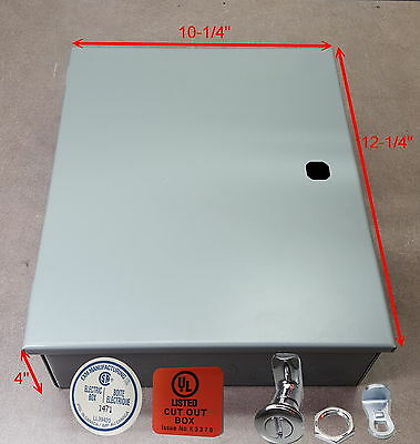 Electrical Enclosure.nema 1. 12 X10 X 4 Hinged. Made In Canada