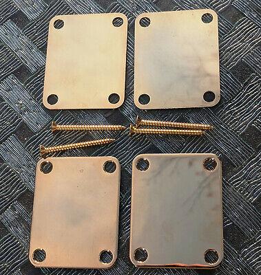 Square 4 Hole Black Square Neck Plate Guitar Neckplate w//4 Screw /& Gasket