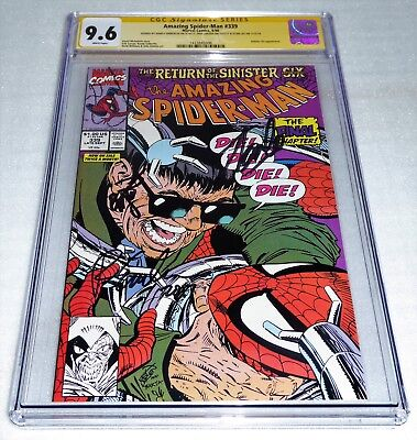 Amazing Spider-Man #339 Sinister 6 3x Signature Autograph CGC SS STAN LEE LARSEN