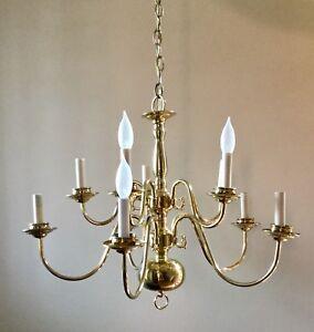 Brass chandelier *new price
