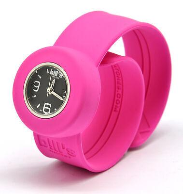 Reloj de Pulsera Mini Correa Rosa Eléctrica Y Marcar Negro - Bill's...