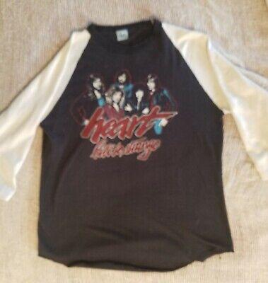 Heart 1980 Tour Concert Jersey shirt Bebe Le Strange Large Ann Nancy Wilson Howa image
